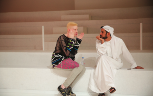 #4 Shaun Ross chatting with Arab