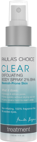 Clear Exfoliating Body Spray