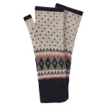 Accessorize: Stripe & Diamond Fairisle Cut Off Gloves