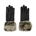 Accessorize: Faux Fur Trim Leather Glove