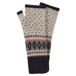 Accessorize: Stripe & Diamond Fairisle Cut Off Gloves