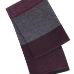 Burton: Burgundy and Grey formal scarf